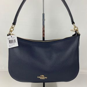New Coach Chelsea Navy Crossbody Bag